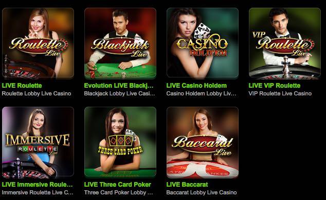 Mobilbet Live Casino Angebot