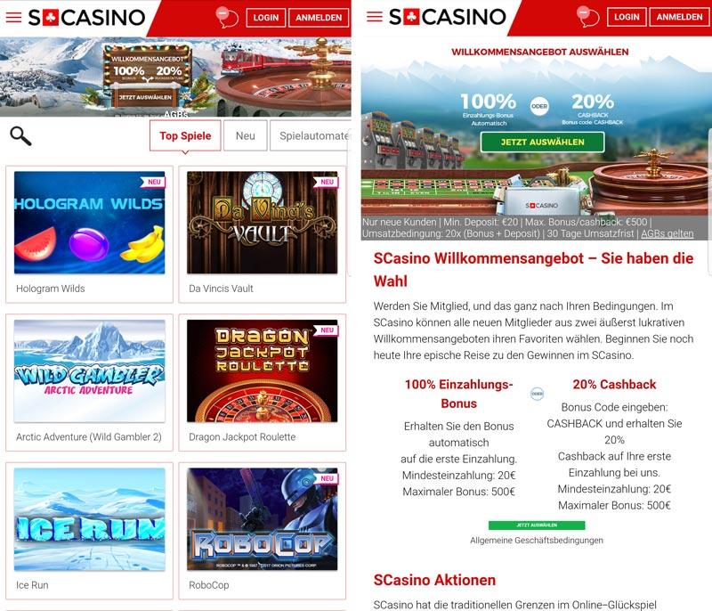 Scasino mobile App