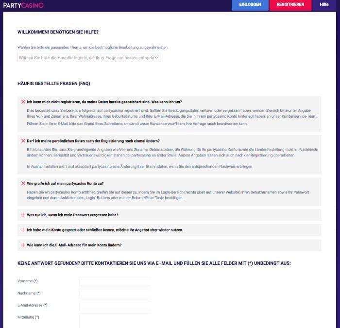 PartyCasino_FAQ