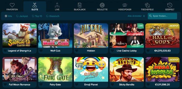 casinoland_spieleangebot
