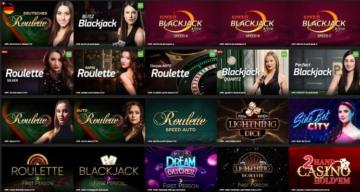 EnergyCasino Live Casino Auswahl