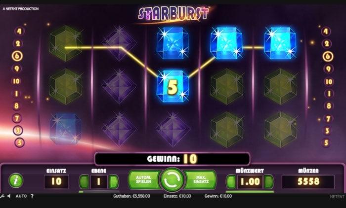 Free Spins für den beliebten Starburst Slot