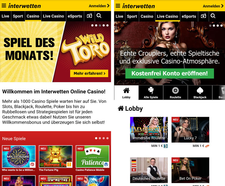 interwetten Casino App