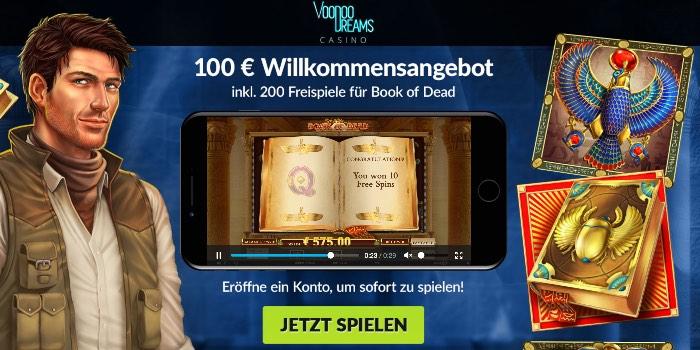 VoodooDreams Casino Neukunden Bonus hier sichern