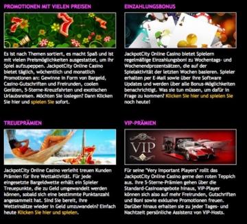 Online Casino Jackpotcity - Overview