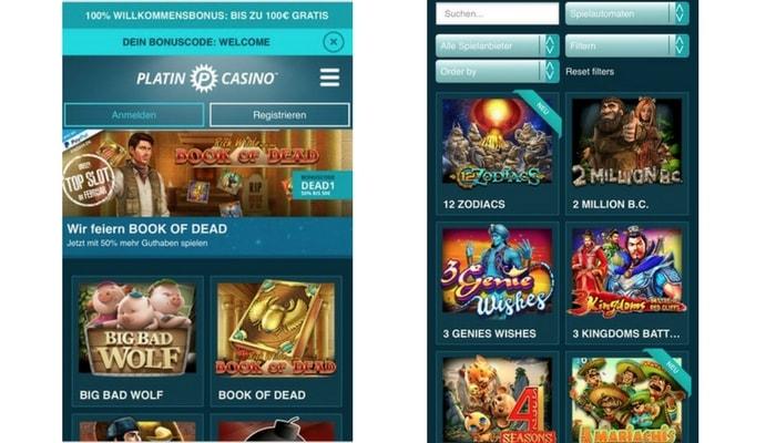 Platincasino App: Auch mobil haben wir bei diesem Casinoanbieter gute Erfahrungen gemacht