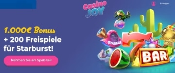 Casino Joy Bonus für Neukunden