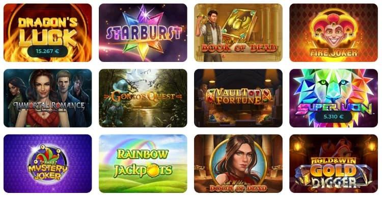 Casino Joy Spieleangebot