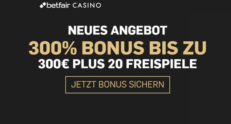 Betfair Casino Bonus für Neukunden