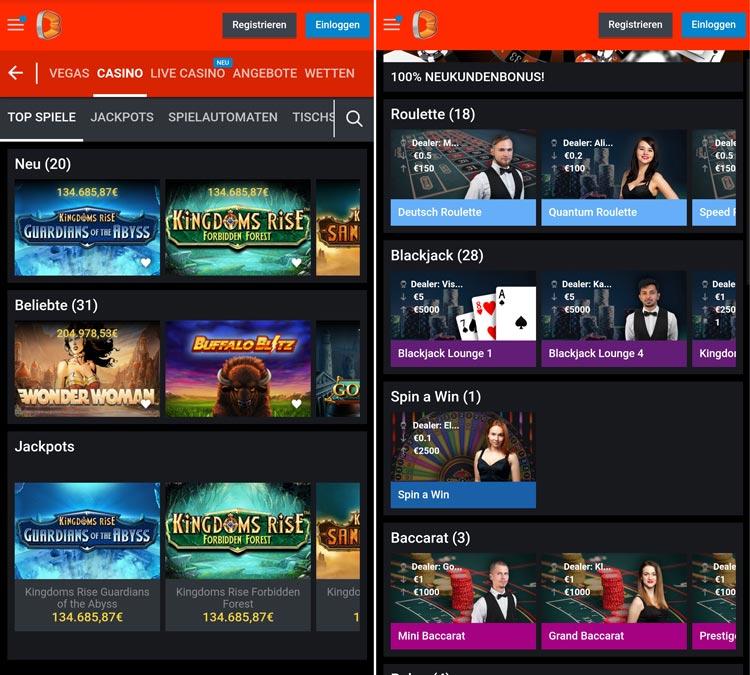 Betano Casino App auch als Web-App
