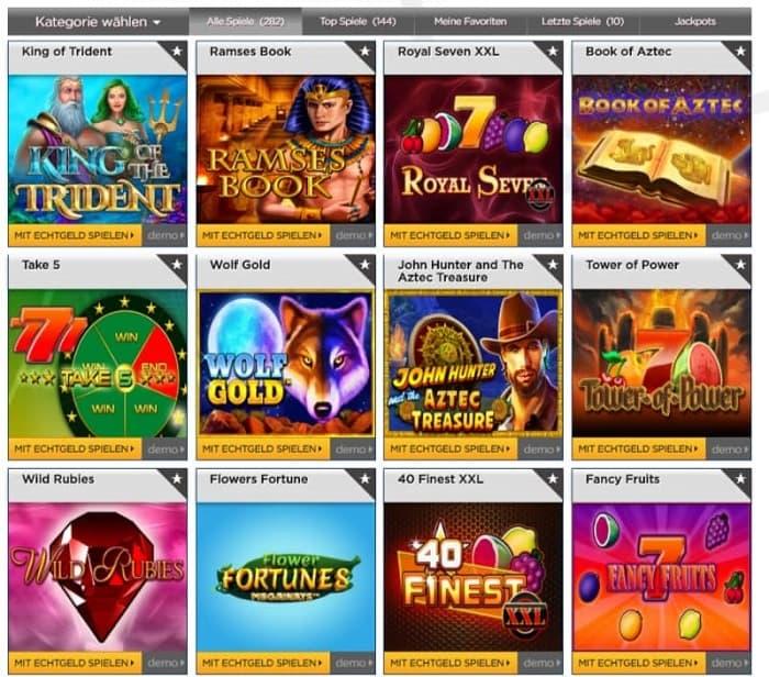 Bet3000 Casino Spieleangebot