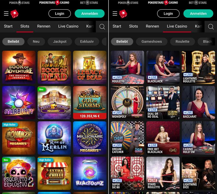 PokerStars Casino App: zum Download und als Web-App per Browser