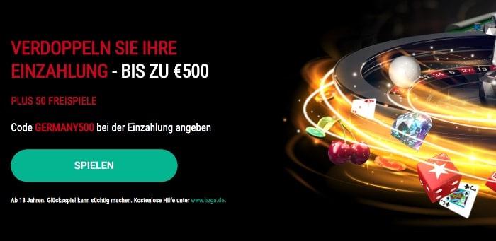PokerStars Casino Erfahrung und Test: Bonus von 100% bis 500€