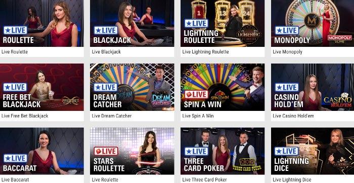 Das PokerStars Live Casino bietet klassische Casinospiele in vielen Varianten
