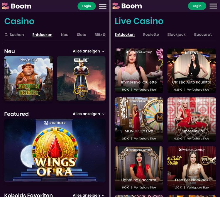 Die Boom Casino Web-App ermöglicht das Spielen von unterwegs