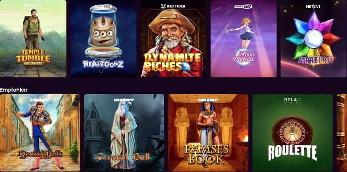 Boom Casino Spieleangebot mit renommierten Spieleentwickler wie NetEnt, Play'N Go und Microgaming