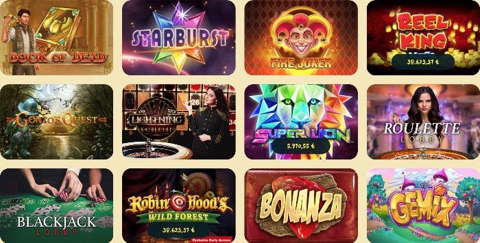 Das Casoola Casino Spieleangebot ist riesig