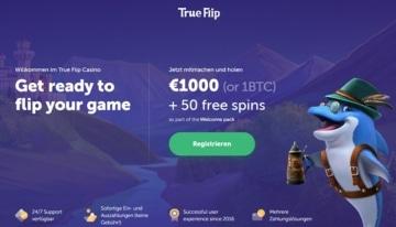 TrueFlip Casino Bonus Bild für Neukunden
