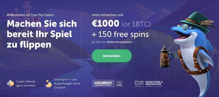 True Flip Casino Willkommensbonus