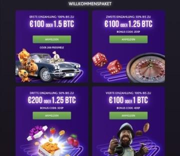 7bit Casino Erfahrungen: das Willkommenspaket erstreckt sich über die ersten vier Einzahlungen