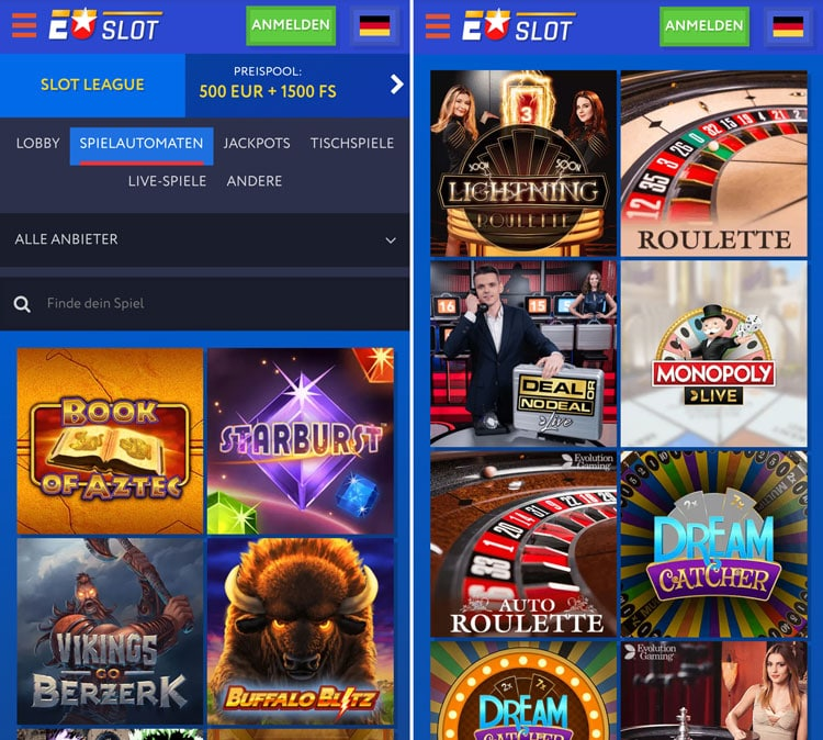 Euslot Casino mobile App