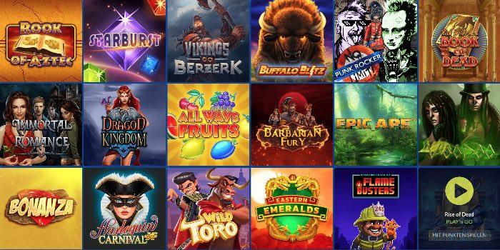 Euslot Casino Spieleangebot