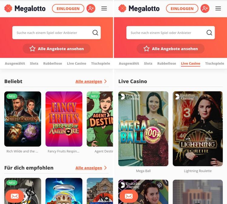 Megalotto Casino App