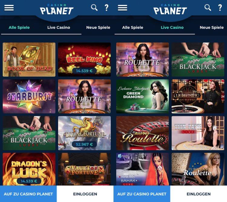 Casino Planet App