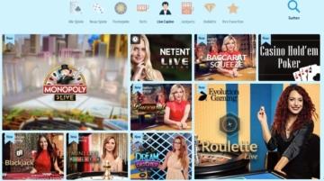 Evolution Gaming, NetEnt und Betgame stellen das CrazePlay Live Casino zur Verfügung.