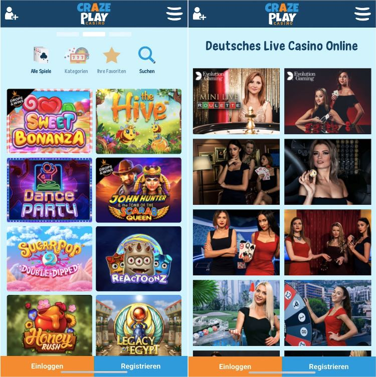 Die CrazePlay Casino App überzeugt durch Schnelligkeit