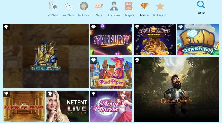 CrazePlay Casino Spieleangebot
