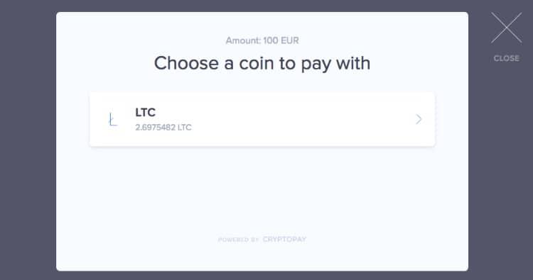 Litecoin Einzahlen Auswahl