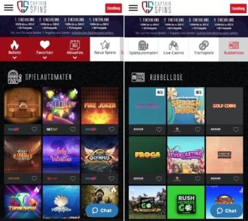 Captain Spins Casino App