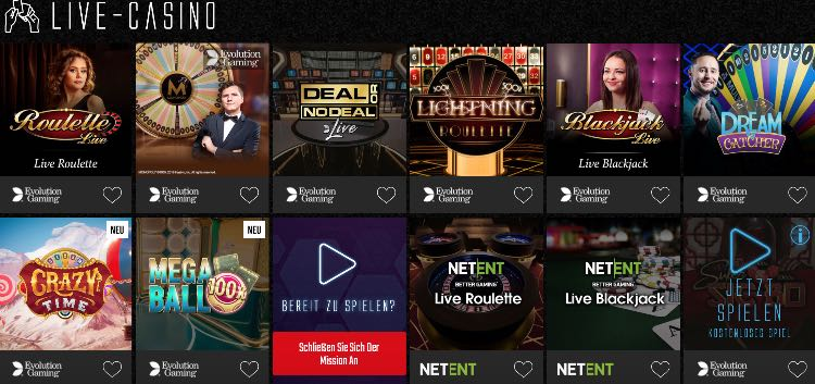 Captain Spins Casino Live Casino