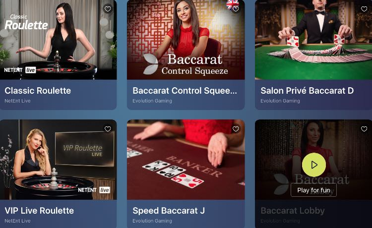 Casinoin Live Casino