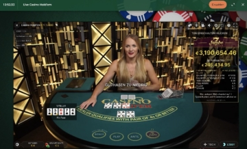 Mr Green Live Casino Hold Em inkl. Jackpot
