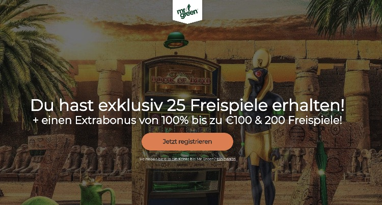 Exklusiver Mr Green Casino Bonus