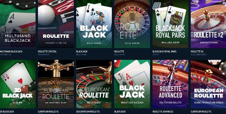 NeonVegas Casino Tischspiele