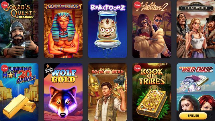 FEZBet Casino Spieleauswahl