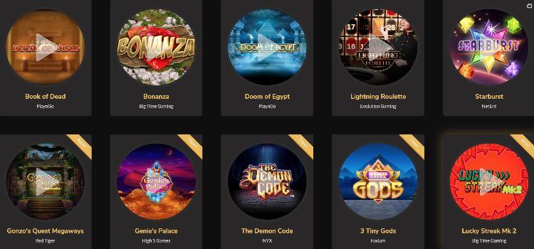Jackpot Village Casino Spieleangebot