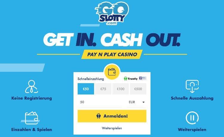 Casino ohne Anmeldung GoSlotty