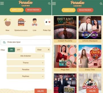 Paradise Casino App
