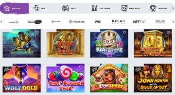 Beliebte Spiele im Allreels Casino