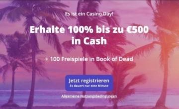 Casino Days Willkommensbonus