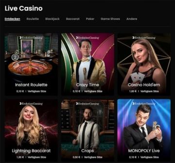 Casino.me Live Casino