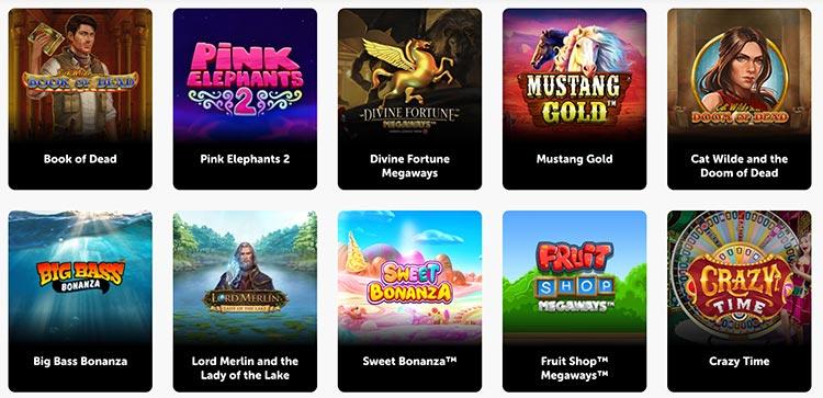 Beliebteste Spiele im Pocket Play Casino