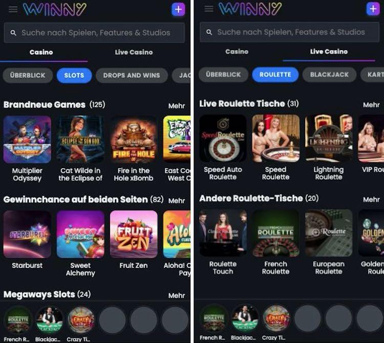 Winny Casino App