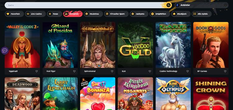 Boomerang Casino Spieleangebot
