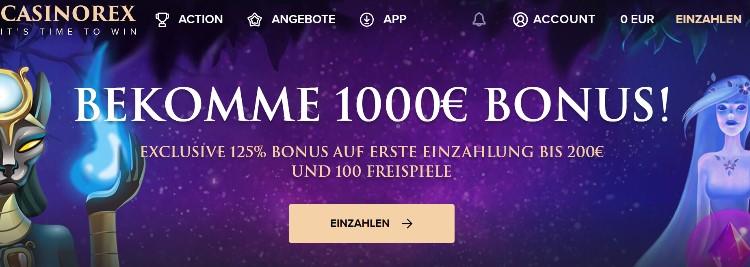 CasinoRex Bonus