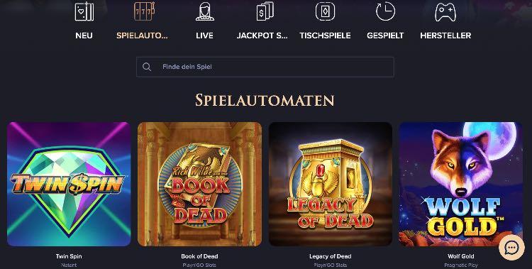 CasinoRex Spieleangebot